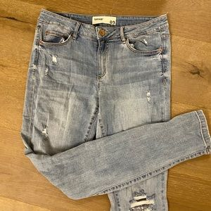 Garage ripped high waisted jeans